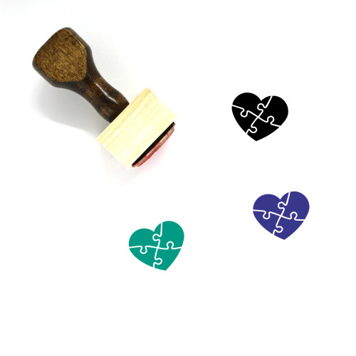 Relationship Wooden Rubber Stamp No. 39