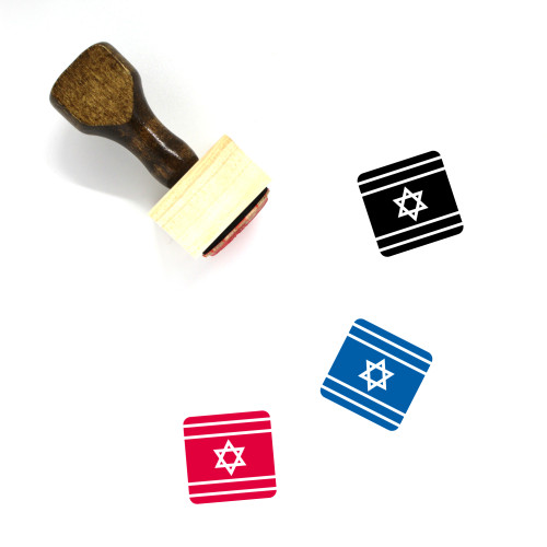 Israel Wooden Rubber Stamp No. 40