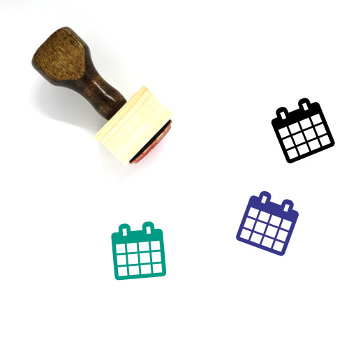Calender Wooden Rubber Stamp No. 39