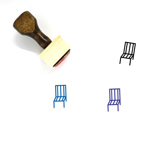 Chair Wooden Rubber Stamp No. 189
