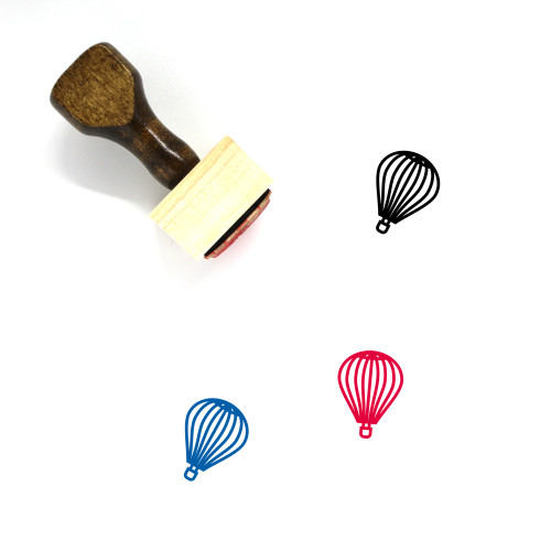 Hot Air Balloon Wooden Rubber Stamp No. 49