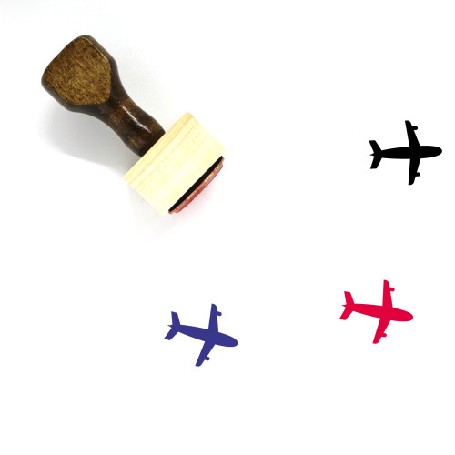 Airplane Wooden Rubber Stamp No. 354