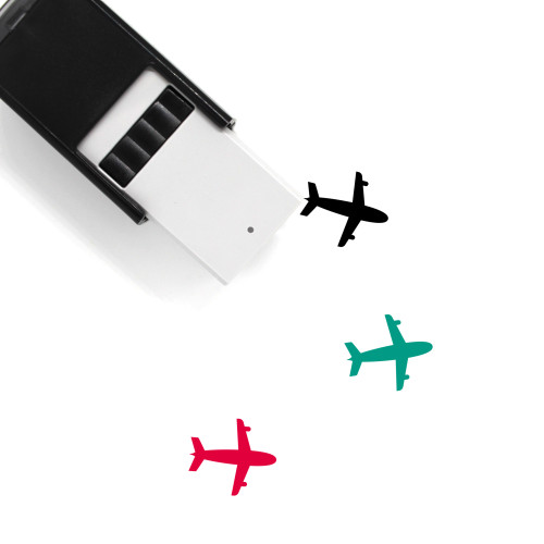 Airplane Self-Inking Rubber Stamp No. 354