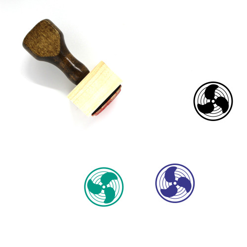 Fan Wooden Rubber Stamp No. 119