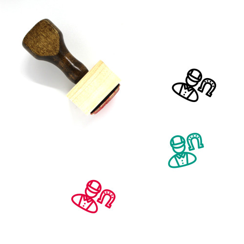 Equestrian Wooden Rubber Stamp No. 22