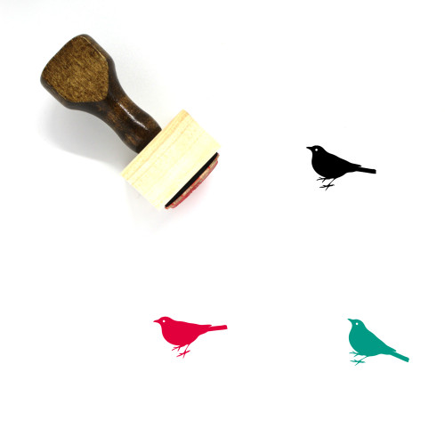 Sparrow Wooden Rubber Stamp No. 7