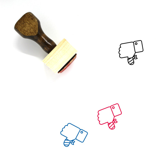 Dislike Wooden Rubber Stamp No. 34