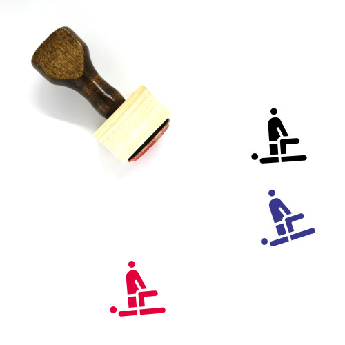 Physiotherapy Wooden Rubber Stamp No. 13