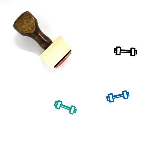 Weights Wooden Rubber Stamp No. 37