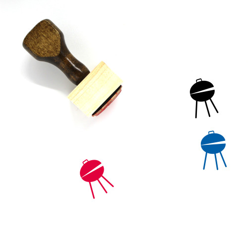 Grill Wooden Rubber Stamp No. 62