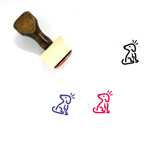 Dog Wooden Rubber Stamp No. 174