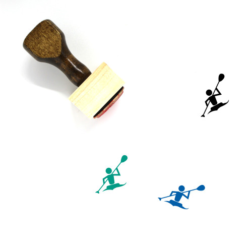 Rowing Wooden Rubber Stamp No. 7