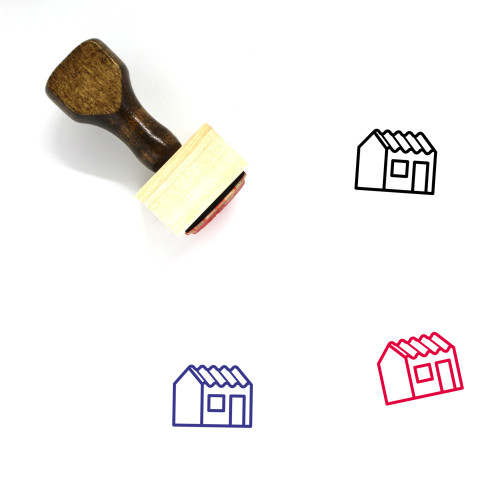 Zinc House Wooden Rubber Stamp No. 1