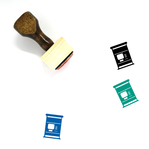ATM Wooden Rubber Stamp No. 53