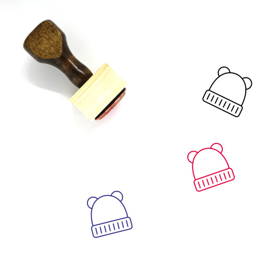 Baby Hat Wooden Rubber Stamp No. 11
