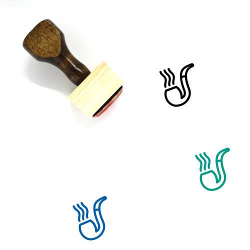 Pipe Wooden Rubber Stamp No. 79