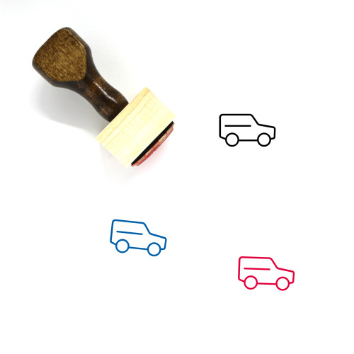 SUV Wooden Rubber Stamp No. 36