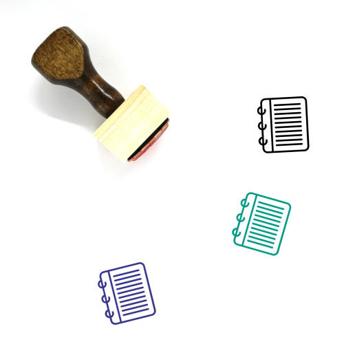 Notes Wooden Rubber Stamp No. 19