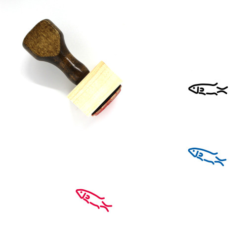 Seabass Wooden Rubber Stamp No. 1
