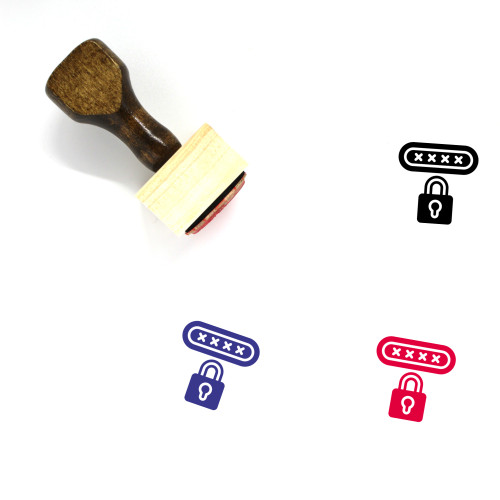 Pin Code Wooden Rubber Stamp No. 21