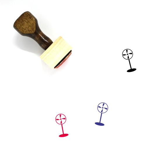 Fan Wooden Rubber Stamp No. 120