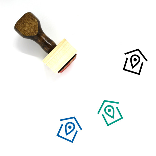 House Location Wooden Rubber Stamp No. 46