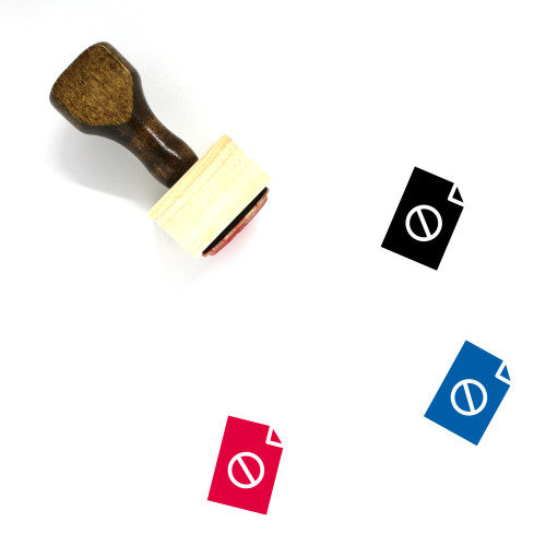 Document Blocked Wooden Rubber Stamp No. 9