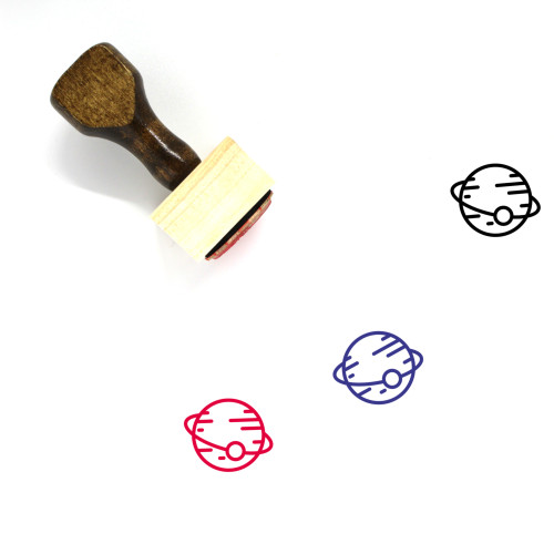 Planet Wooden Rubber Stamp No. 305