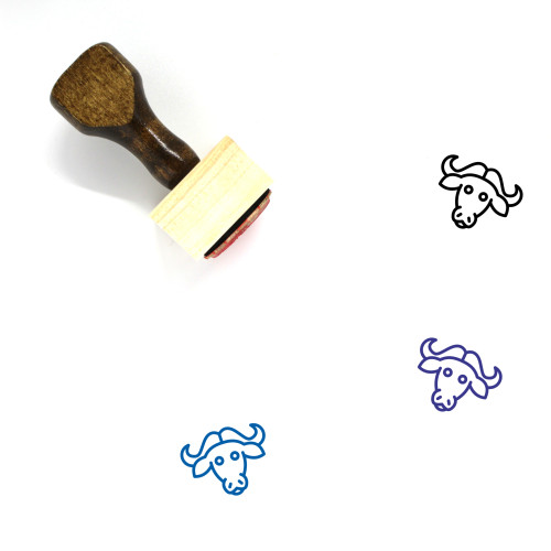 Buffalo Wooden Rubber Stamp No. 32