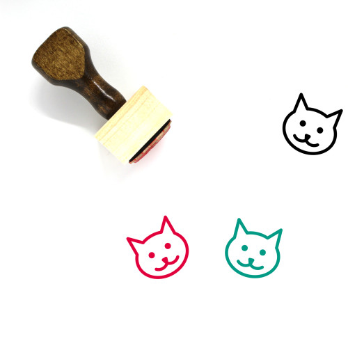 Cat Wooden Rubber Stamp No. 183