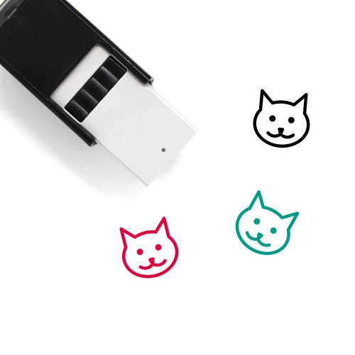 Cat Self-Inking Rubber Stamp No. 183