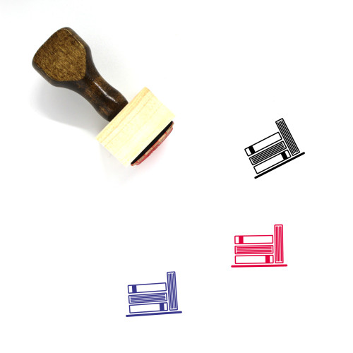 Books Wooden Rubber Stamp No. 124