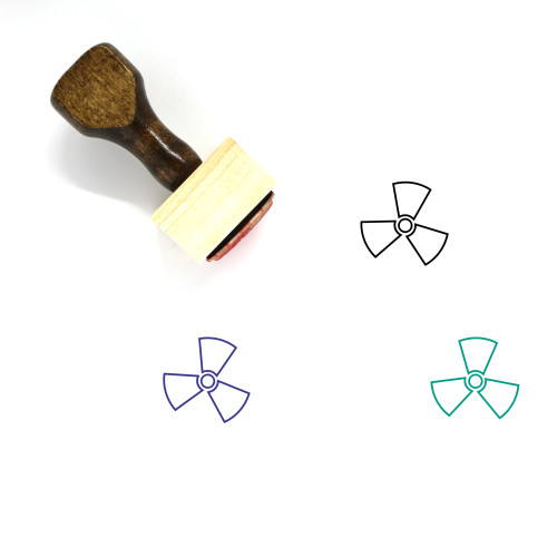 Fan Wooden Rubber Stamp No. 121