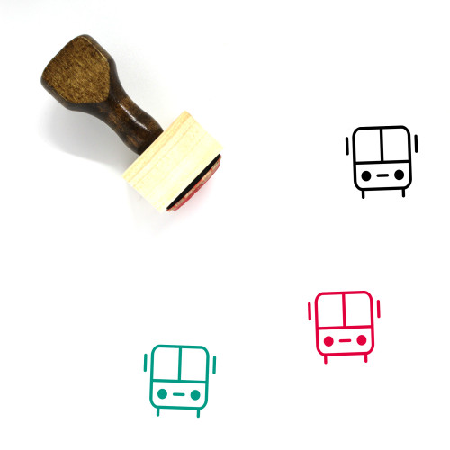 Bus Wooden Rubber Stamp No. 157
