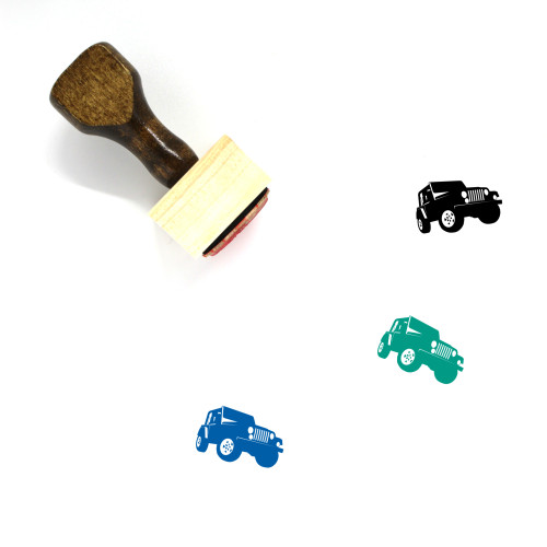 Jeep Wooden Rubber Stamp No. 48