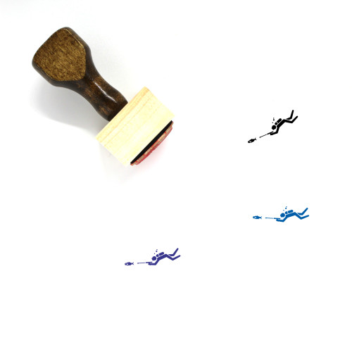 Spearfishing Wooden Rubber Stamp No. 1
