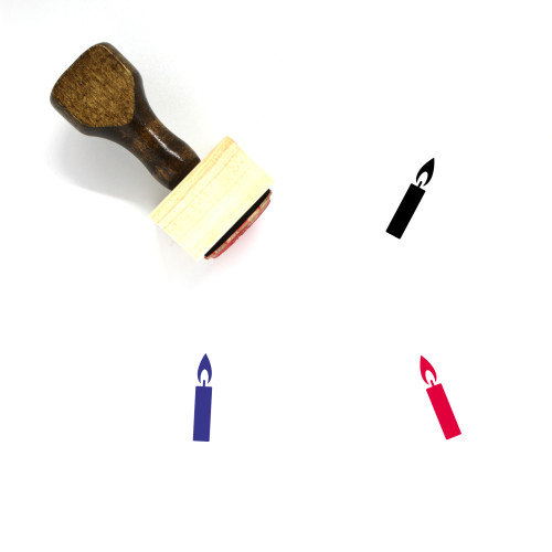 Candle Wooden Rubber Stamp No. 231