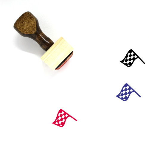 Finish Flag Wooden Rubber Stamp No. 26