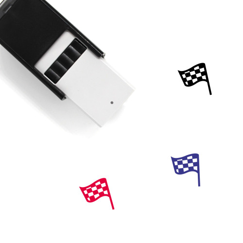 Finish Flag Self-Inking Rubber Stamp No. 26