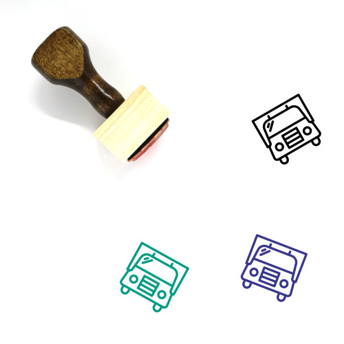 Truck Wooden Rubber Stamp No. 276