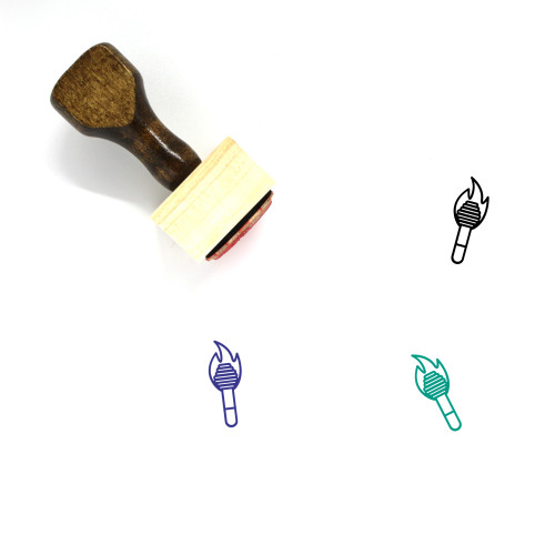 Torch Wooden Rubber Stamp No. 96