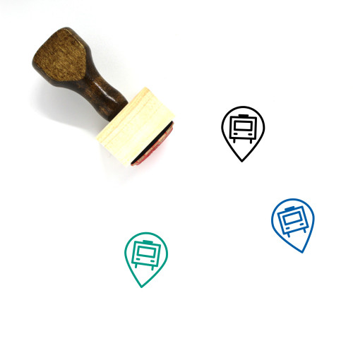 Bus Stop Wooden Rubber Stamp No. 42