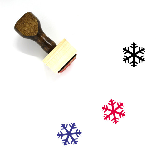 Snowflake Wooden Rubber Stamp No. 251