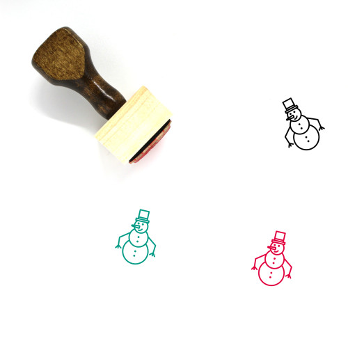 Snowman Wooden Rubber Stamp No. 101
