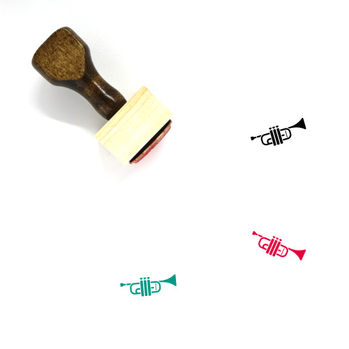 Trumpet Wooden Rubber Stamp No. 60