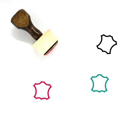Leather Wooden Rubber Stamp No. 8