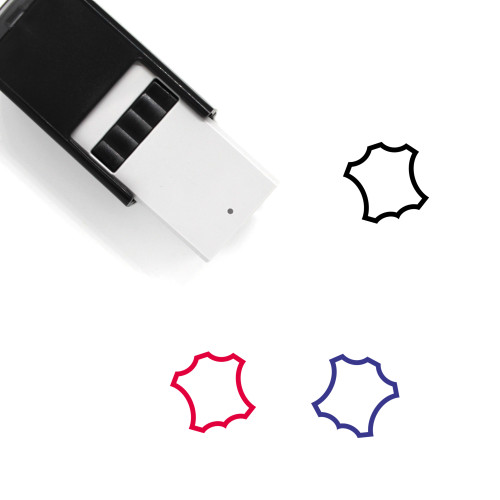 Leather Self-Inking Rubber Stamp No. 8