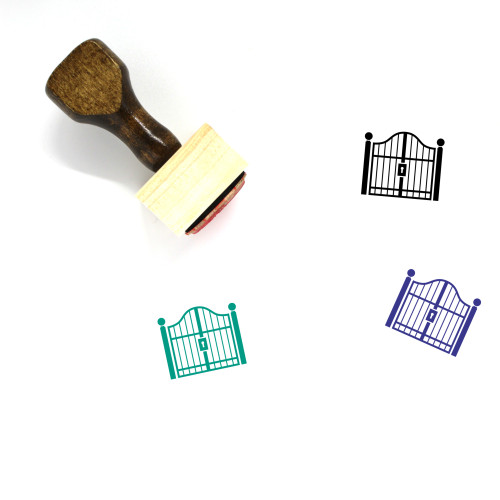 Gate Wooden Rubber Stamp No. 41