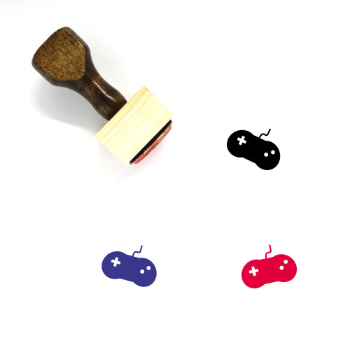 Video Game Controller Wooden Rubber Stamp No. 68