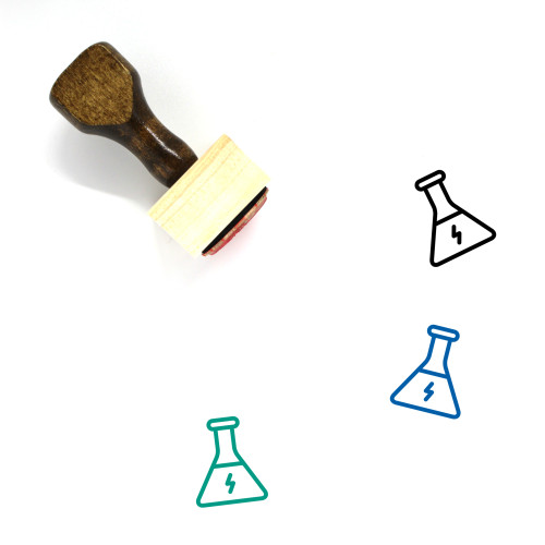 Chemical Energy Wooden Rubber Stamp No. 1